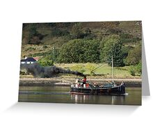 Old Clyde Puffer on Loch Linnhe. Greeting Card