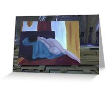 Nude on Couch-Studio view Greeting Card