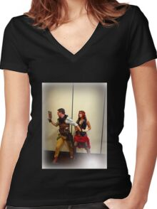 Time Travellers Women's Fitted V-Neck T-Shirt