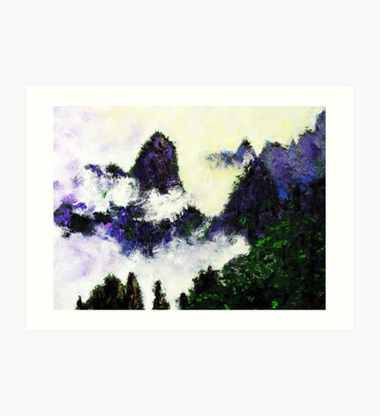 China Landscape Painting - Huang Mountains Art Print