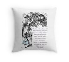 Cheshire Direction Throw Pillow