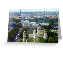 Riga Panorama Greeting Card