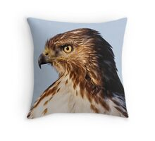 Red Tailed Hawk..after dinner Throw Pillow