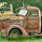 Old Fire Truck Resting In Field by mooselandtours