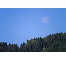 Moonset Photographic Print