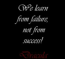 We Learn From Failure by Amantine