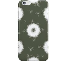 Abstract dandelions iPhone Case/Skin