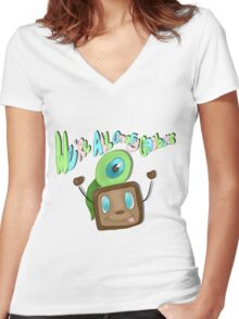 We are all goofy goobers! Women's Fitted V-Neck T-Shirt
