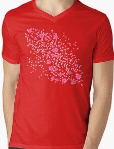 Sakura Princess on Black Mens V-Neck T-Shirt