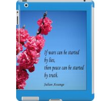 Peace can be started by truth.  iPad Case/Skin