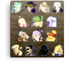 Faces of FFVI Abstract Canvas Print
