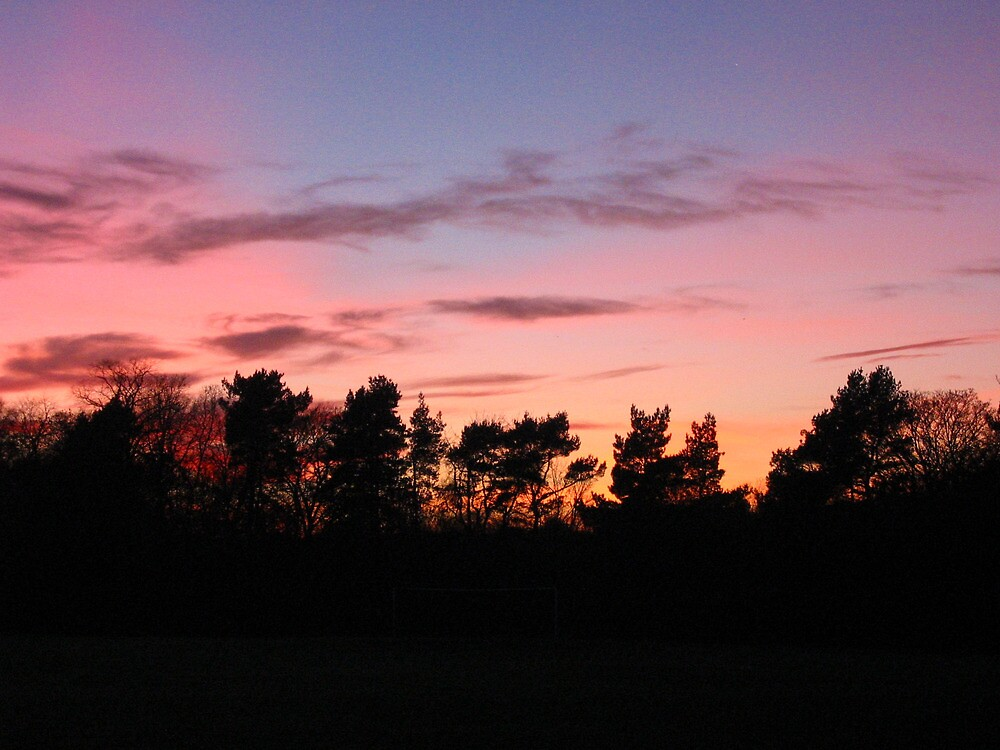 Lanarkshire sunset of pinks and purples by mikekane