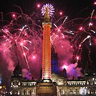 Glasgow Christmas Fireworks by mikekane