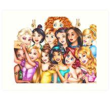 disney princesses 2 Art Print