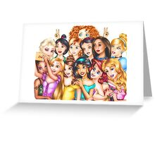 disney princesses 2 Greeting Card