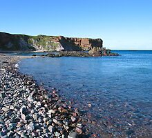 Pebble beach Eyemouth by mikekane
