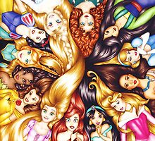 disney princesses by iheartcory