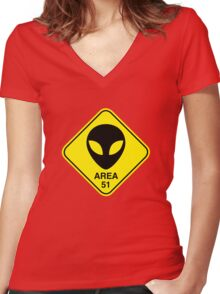 Area 51 Women's Fitted V-Neck T-Shirt