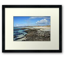 Sanna Bay Beach on the Arnamurchan Penninsula. Framed Print