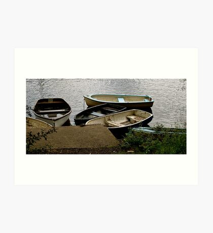 A Gathering of Row Boats - Loch Lomond Art Print