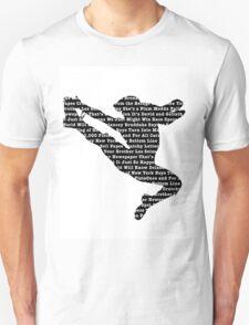 Newsies Jumper - Newspaper Filled (Inverse) T-Shirt