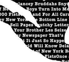 Newsies Jumper - Newspaper Filled (Inverse) Sticker