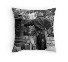 Tending the Graves Throw Pillow