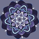 columbine blue mandala by resonanteye