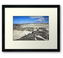 Sanna Bay on the Atdnamurchan Penninsula. Framed Print