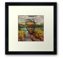 Tied to the Land (detail from Mozambique...Is it Mine?) Framed Print