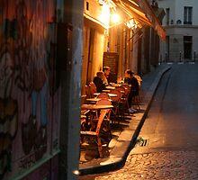 Night at the Mouffetard Café by Virginia Kelser Jones