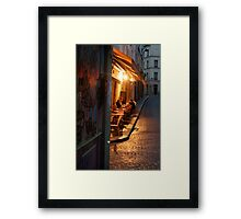Night at the Mouffetard Café Framed Print