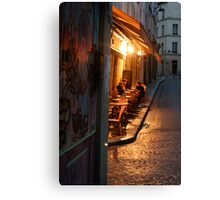Night at the Mouffetard Café Canvas Print