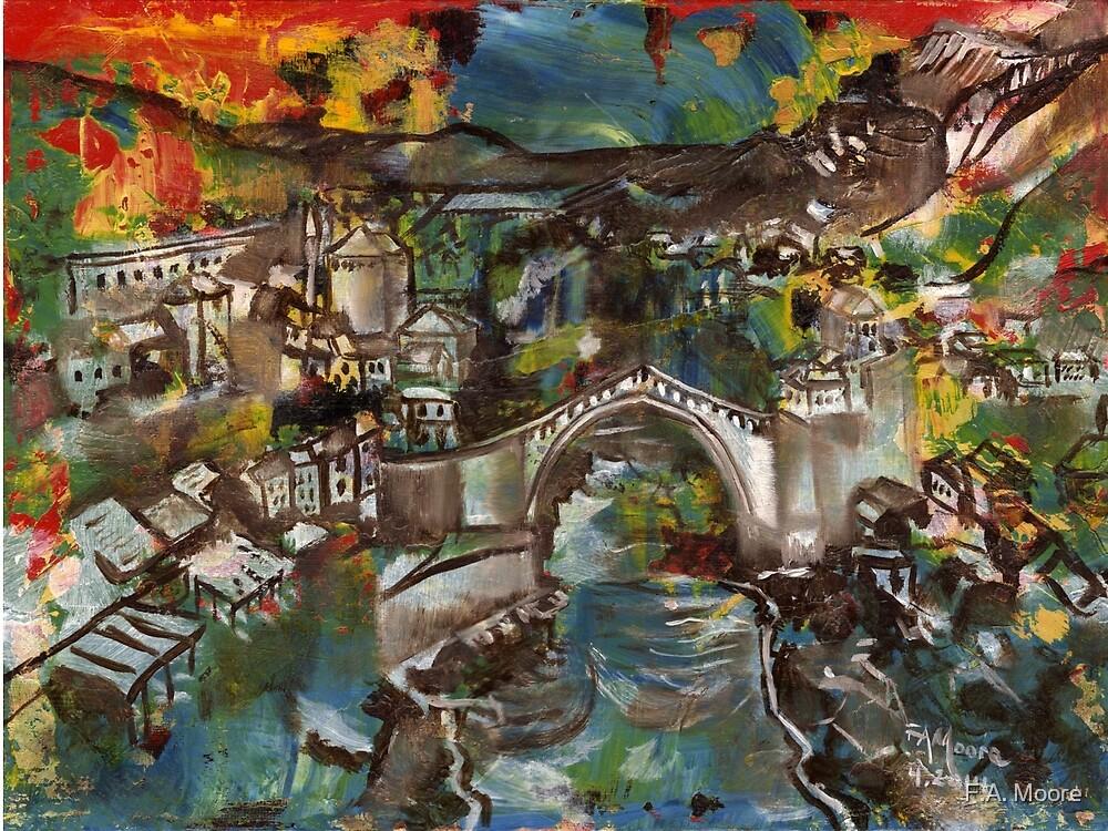 'Stari Most' - Mostar Bridge, Bosnia-Herzegovina by F.A. Moore