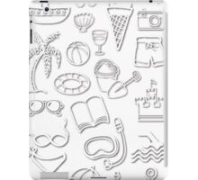 Holiday beach icons iPad Case/Skin