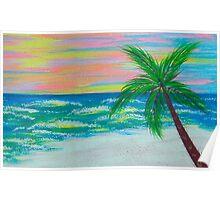Sunset Ocean Poster
