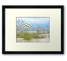 Waterfront Beach Framed Print
