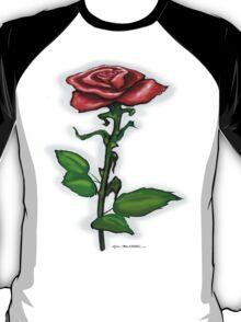 Single Red Rose Tee T-Shirt
