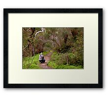 Another photographer on location - Morialta Conservation Park, South Australia Framed Print