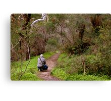 Another photographer on location - Morialta Conservation Park, South Australia Canvas Print