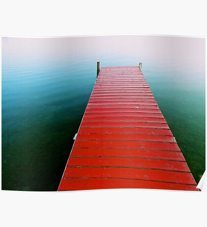 Red Dock Poster