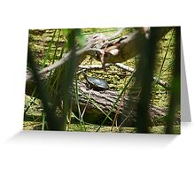 Through the brush, darkly. Greeting Card