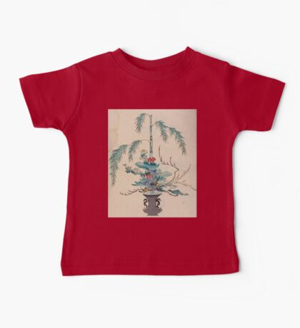 The flowers of Japan and the art of floral arrangement Josiah Conder 1892 0091 Early Style of Flower Arrangement Shin No Hana Baby Tee