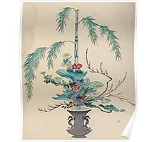 The flowers of Japan and the art of floral arrangement Josiah Conder 1892 0091 Early Style of Flower Arrangement Shin No Hana Poster