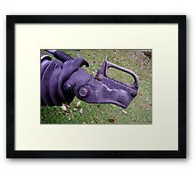 Rhino, Needs Friends - trailer hitch Framed Print