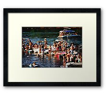 American River Wild Life Framed Print