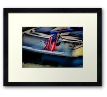 Fourth of July on the River Framed Print