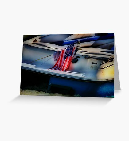 Fourth of July on the River Greeting Card