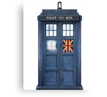 Police Box Union Jack Canvas Print