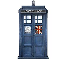 Police Box Union Jack Photographic Print